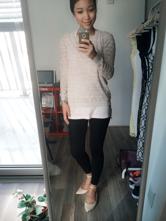 ootd - light sweater layering 1