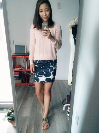 ootd - pale pink and navy
