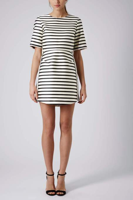 topshop stripe aline dress
