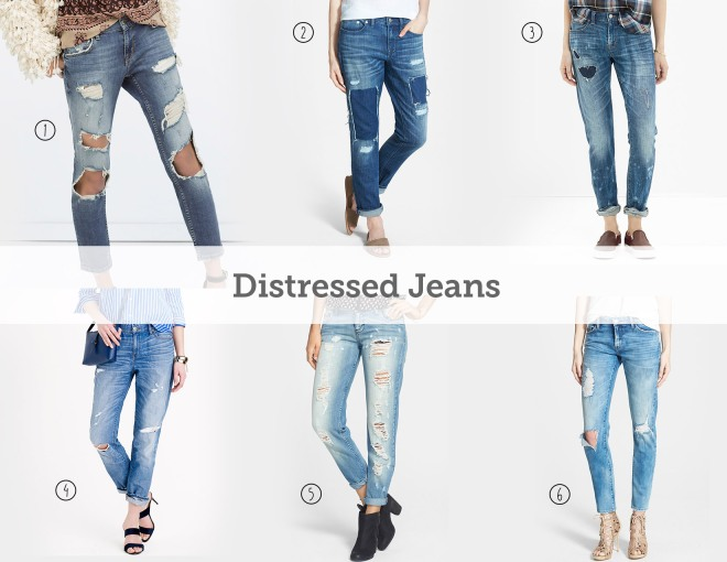 distressed slouch jeans